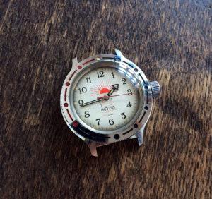 Vostok Amphibia Sole Rosso