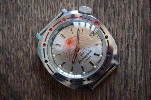 Vostok Komandirskie Rising Sun Silver